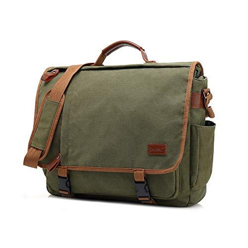 Boss Bag Grote capaciteit Casual Schoudertas mannen Outdoor Travel Sporttas Student Canvas Bag (Kleur: Groen, Maat : L)