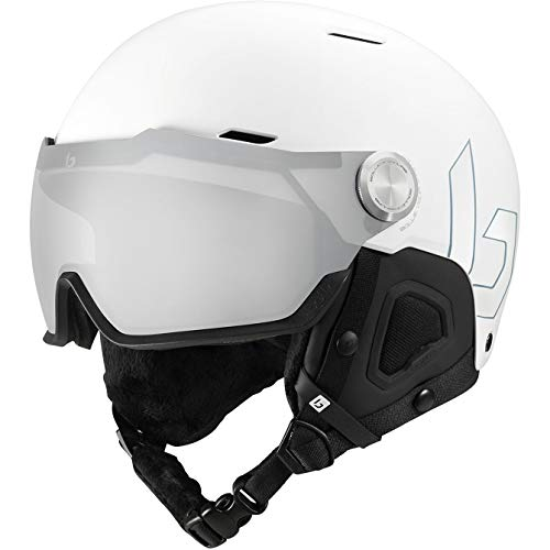 BOLLE Might Visor Premium MIPS 2021 - Casco de ciclismo (talla S), color blanco mate