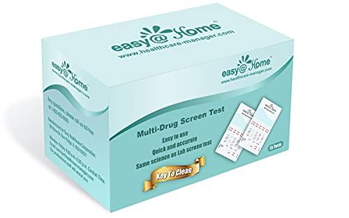 Easy@Home 5 Panel Instant Drug Test Kits - Testing Marijuana (THC), COC, OPI 2000, AMP, MET/mAMP- Urine Dip Drug Testing -#EDOAP-254-15 Pack Expires 12/24/21