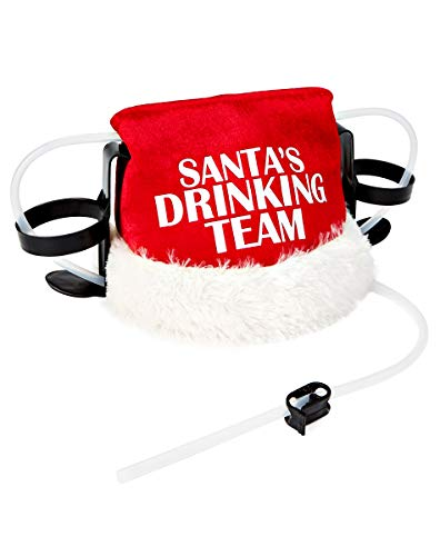 Spencer Gifts Santa's Drinking Team Drinking Hat