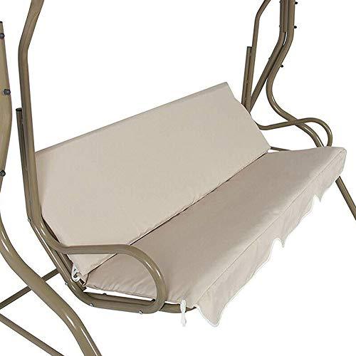 LYDQ Abdeckung für Hollywoodschaukel, Sitzbezug, wasserdichtes Kissen, für Terrasse, Garten, Hof, Outdoor beige