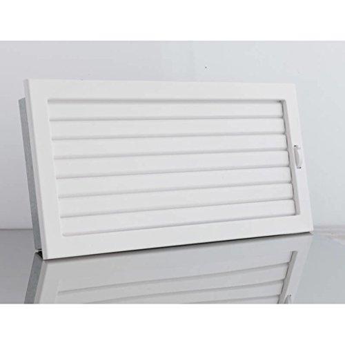 Lüftungsgitter mit beweglichen Lamellen 450 x 220 mm - Weiß