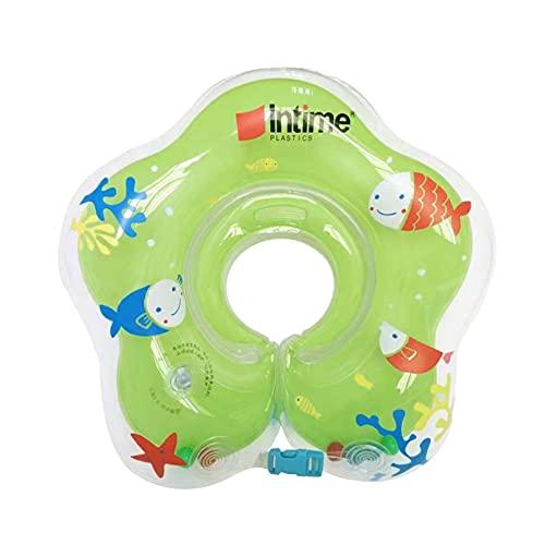 Baby Hals Schwimmring, aufblasbare Kinder Babypool-Schwimmer, Kinder-Schwimm-Hals-Ring für Baby Kinder Infant, Kleinkind Schwimmhilfe Schwimmring Halsring Aufblasbare Kid Hals Schwimmring (Green/B)