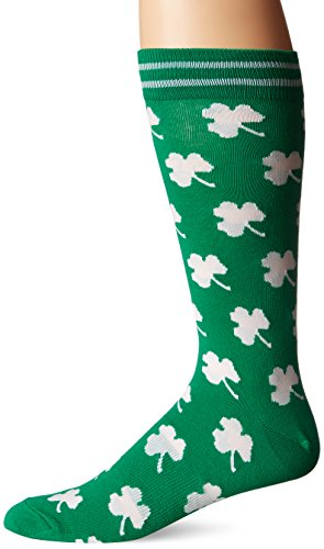 K. Bell Men's Classics Novelty Crew Socks, Shamrocks (Green), Shoe Size: 6-12