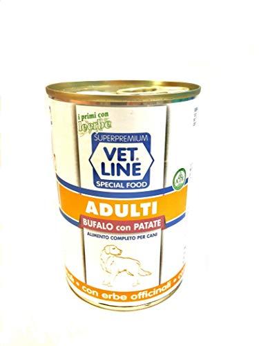 Vet Line Cani Adulti Monoproteico Scatolette Bufalo e Patate 400 Gr Umido