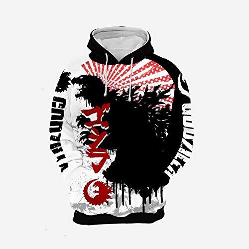 3D Anime Hoodie Cosplay trui zwart en wit patroon monster casual shirt