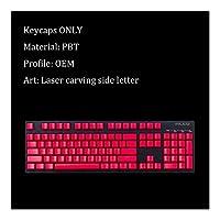 キーキャップ外し 104キーメカニカルゲーミングキーボード、交換PBTキーカバーのMXスイッチ、サイド輪郭手紙キーキャップ キーキャップ シリコン (Colore : Keycaps 6)