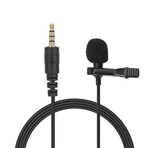 Lavalier clip-on microfoon - 3,5 mm draagbare omnidirectionele condensatormicrofoon voor aansluiting op smartphones, tablets, computers, vergaderingen, interviews, lezingen, optredens, karaoke, enz