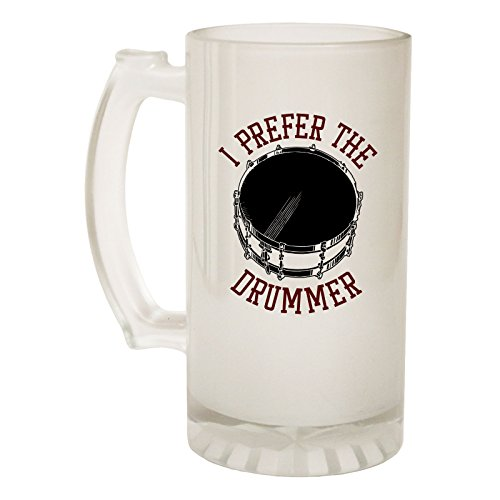 123t Beer Stein 16oz - Frosted Glass I Prefer Drummer Band Funny Novelty Birthday Joke dad Grandad Uncle Christmas Pitcher tankard
