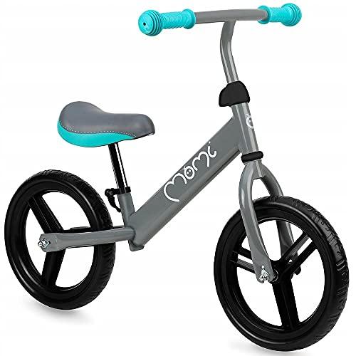 MOMI Nash Bicicleta de Equilibrio para niños, Ultraligera 2,5 kg, Ruedas no perforables, Asiento y Ruedas Ajustables, hasta 25 kg, Ruedas de 12'.