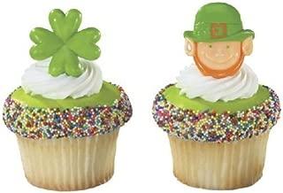 St. Patrick's Day Shamrock and Leprechaun Cupcake Rings - 24 ct