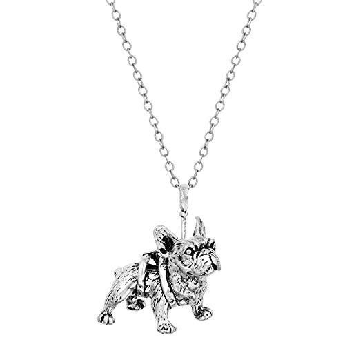 MXWY Collar Hombres Y Mujeres Accesorios Bulldog Francés Lindo Animal Perro Pug...