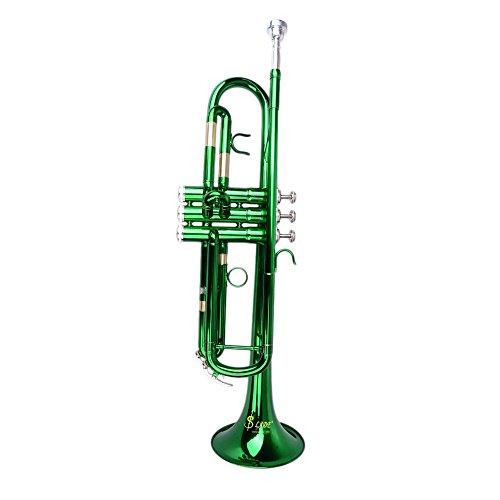 Andoer® Trompete Bb B Flat Messing exquisit mit Mundstück Pinsel Reinigungstuch Handschuhe Riemen
