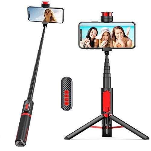 Bastone Selfie Bluetooth per Android,Mini Estensibile 3 in 1 Selfie Stick Treppiede Monopiede Lunghezza Focale Regolabile Telecamera Reversibile con Telecomando Wireless per Samsung,Huawei,Xiaomi
