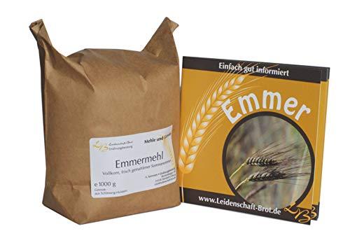 Emmer-Kennenlernpaket - 1 kg frisch gemahlenes Emmervollkornmehl + Emmerbroschüre mit Rezepten