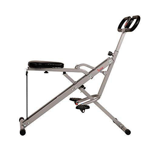 Product Image 2: Sunny Health & Fitness Squat Assist Row-N-Ride Trainer for Glutes Workout with Training Video