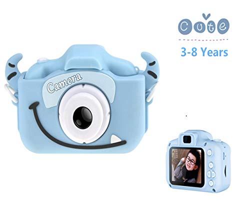 YANGKEE Digitale Kamera für Kinder Robuste HD Kinderkamera 2,0 Zoll Farbdisplay 1200 Megapixel 1080p Videokamera,USB Kabel (blau)