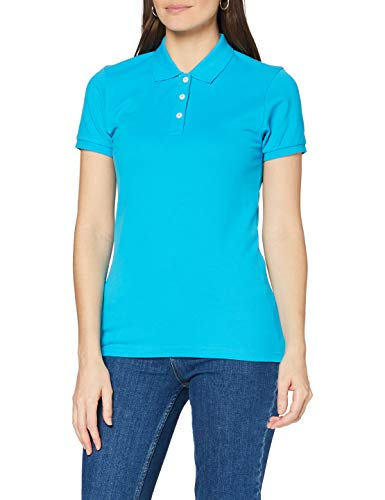 Clique Damen Premium Polo Shirt Polohemd, türkis, X-Large