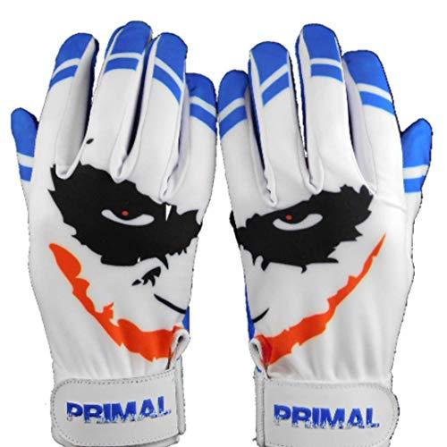 Primal Baseball Youth Cool Blue Smiley Batting Gloves (Medium)