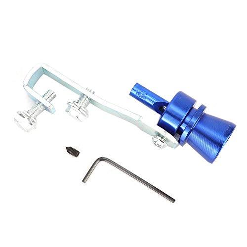 EBTOOLS Sonido del coche Turbo Silbido Cola Garganta Azul Silenciador Tubo de escape Silbato Turbo Sonido Silbido de ruido((TC-M))