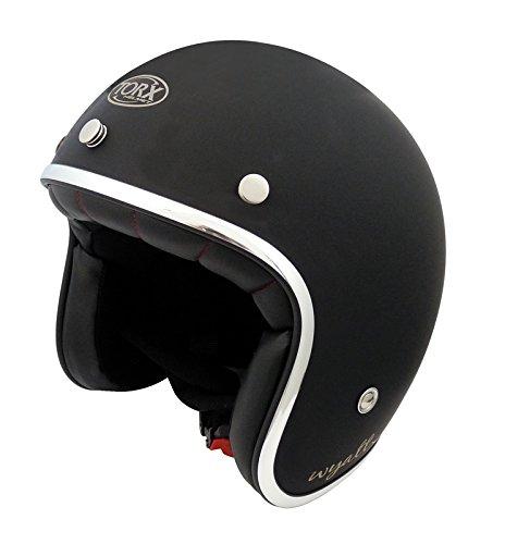 TORX Casco Moto Wyatt, nero opaco,S