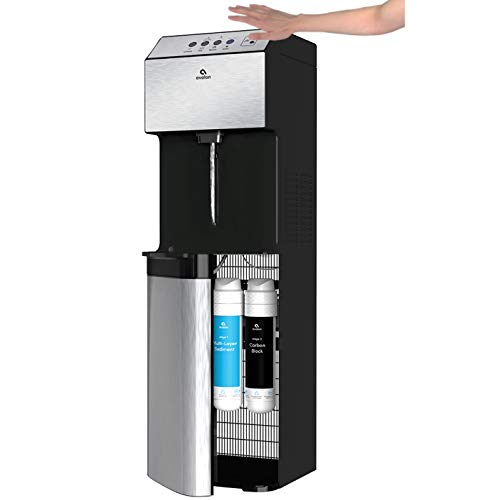 Avalon A13-S Hand-Free Touchless Electric Bottleless Water Cooler Dispenser - 3 Temperatures, Self Cleaning, Stainless Steel