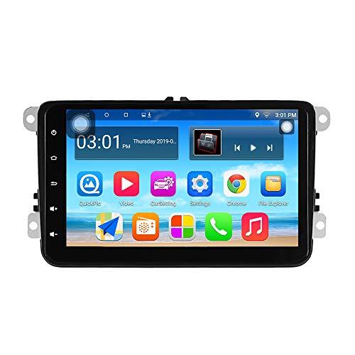 Panlelo S8 Plus Autoradio Am FM RDS para VW Seat Skoda Jetta Passat Golf Polo con Android 9.0 2GB RAM 32GB ROM Navegación GPS 8 Pulgadas 1024 * 600 Pantalla táctil Wi-Fi BT USB 2 DIN