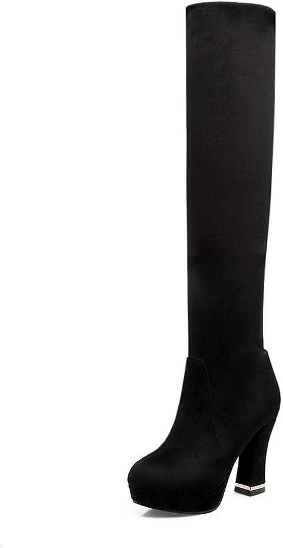 AdeeSu Womens Solid Boots Nubuck Urethane Boots SXC03046