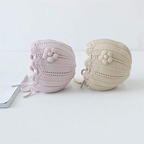 Jun7L Home Kleinkind-Kind-Hut Herbst und Winter weibliches Baby-Prinzessin Hut Kind Will Blume Kopfbedeckung Hut Home (Color : Pink, Size : 46-48cm)