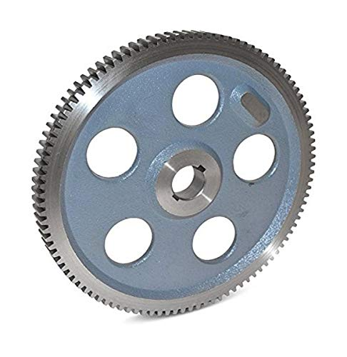 "Boston Gear GA53B Plain Change Gear, 14.5 Degree Pressure Angle, 20 Pitch, 0.625"" Bore, 53 Teeth, Cast Iron"