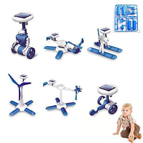 Xiton 1Pc 6 in 1 Kit Solare Robot Alimentato Bambini DIY Giocattolo Solare Giocattoli educativi del crogiolo di Automobile Fan Modello Regalo di Compleanno per i Bambini