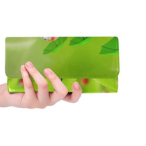 Einzigartige benutzerdefinierte lustige Bild Natur kleine Marienkäfer Regenschirm Frauen Trifold Wallet Lange Geldbörse Kreditkarteninhaber Fall Handtasche