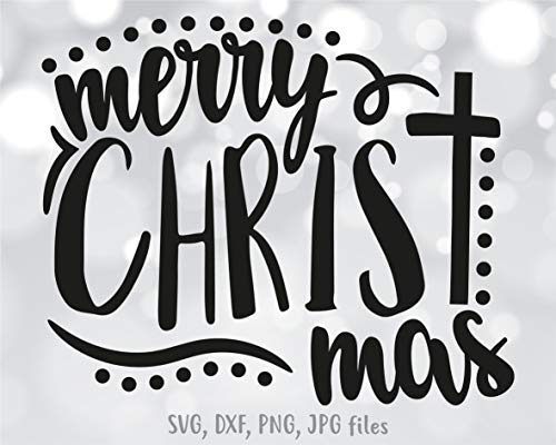 Just454on Feliz Cristo Mas Calcomanía de Navidad con diseño de camisa cristiana Calcomanía de refrán religioso Calcomanía de cruz de Jesucristo