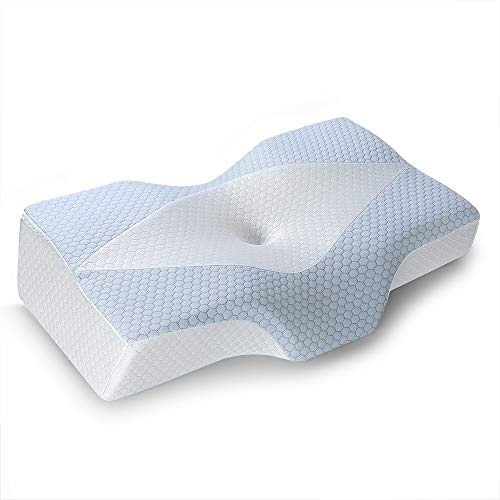 [U.S. Patent] Cooling Pillow for Sleeping, Mkicesky Memory Foam Pillow, Cervical Pillow for Neck Pain, Ergonomic Orthopedic Contour Pillows, Neck Support Bed Pillow for Side, Back, Stomach