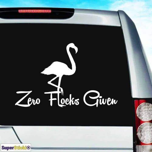 zero flocks given flamingo ca. 30 cm Tuning JDM Hobby decal sticker, autosticker, stickers voor ruit, lak, laptop, muurtattoo van high-performance folie, professionele kwaliteit, UV- en wasstraatbestendig