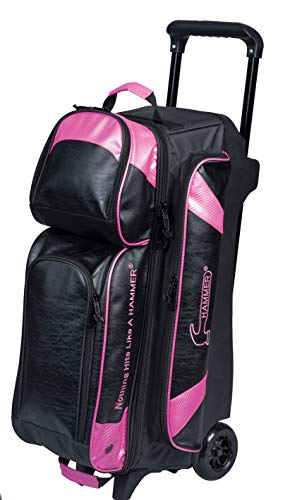 KR Hammer Premium Bowlingtasche mit 3 Kugeln, Schwarz/Pink