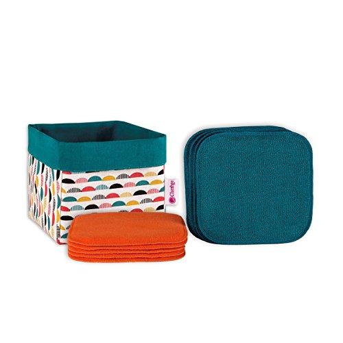 Clarange - Coffret Lingettes Lavables Bifaces Origine France Garantie Box COLOR DELICE - Multicolore