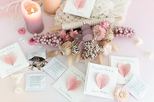 Gastgeschenk Hochzeit für Hochzeitsgäste Personalisiert inkl. Blumensamen Hot Summer