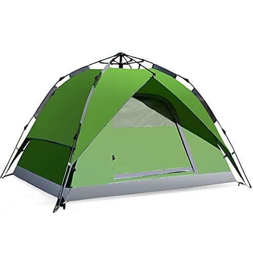 ZHANGCHUNLI Tienda de Campaña Tiendas Portable 2-3 Personas Automático Apertura Rápida Impermeable A Prueba De Viento Multifuncional Carpa para Camping,Verde