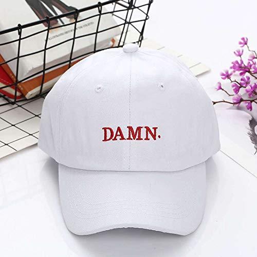 SunAll Gorra de béisbol de Hip-hop del casquillo Gorra for el sol se divierte el casquillo ocasional del sombrero al aire libre, vino tinto Kendrick Lamar Maldita Cap bordado maldición, no est