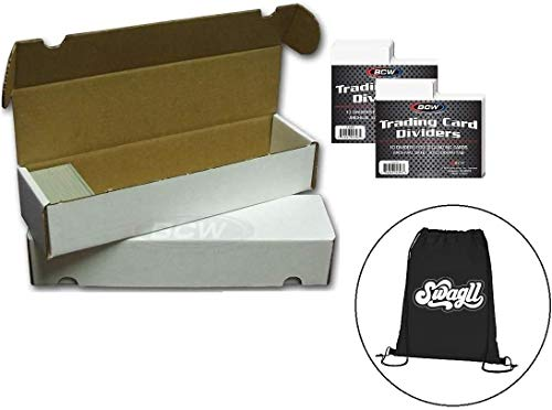Baseball Card Storage Box, 10 Count - Store up to 8000 Trading Cards, with 20 Dividers image