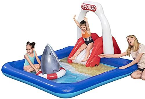 LVYE1 MRMF Centro De Juegos De Agua Inflable, Piscina Infantil para Niños Pequeños, Niños, Adultos Y Familias, sobre El Suelo, Patio Trasero para Niños Mayores De 3 Años