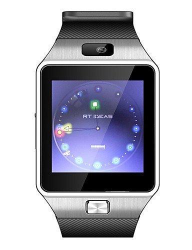 Winait? DZ09 Wearables Reloj Inteligente, Bluetooth3.0, manos libres, control de medios, cámara, pasómetro, MP4, plateado