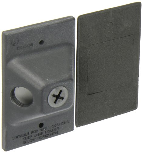 "RAB Lighting R3TB Rectangular Tuffy Cover, Aluminum, 4-1/2"" Length x 2-7/8"" Width, Black"