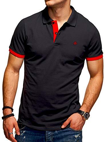 JACK & JONES Herren Poloshirt Polohemd Kurzarmshirt (XL, Tap Shoe/Red)