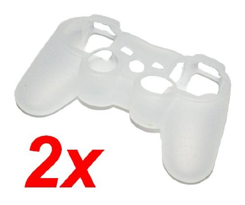2x Sleeve Skin Silikon Hülle für PS3 Controller WEISS - RBrothersTechnologie