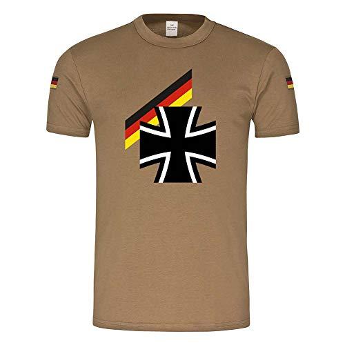 Bundes Heer Militär Soldaten Flagge BW Bundeswehrkreuz Deutschland T-Shirt #23942, Größe:S, Farbe:Khaki