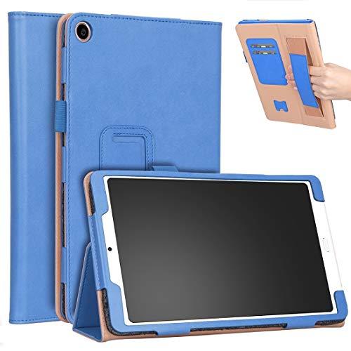 CellphoneParts BZN para XIAOMI MI Pad 4 Plus / 10,1 INCLAYO 2018 Vintage PU Tablet PC Cubierta Protectora de PC con Soporte y Soporte de Mano y Ranuras de Tarjetas Función (Color : Blue)