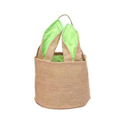 Easter Burlap Basket Bunny Bag Easter Egg Hunting Personalized Candy and Gifts Bag for Kids