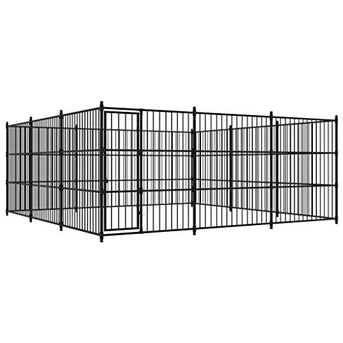 vidaXL Outdoor Hundezwinger 450x450x185cm Hundekäfig Hundehaus Hundehütte